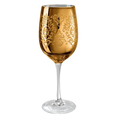 Artland Brocade Wine Glass in Gold (Set of 4)