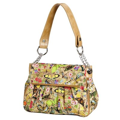 Botanical Double Flap Shoulder Bag