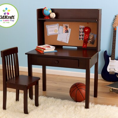 "KidKraft Pinboard 19"" Writing Desk with Hutch and Chair"