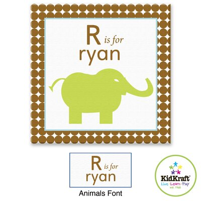 KidKraft Personalized Boy Animals Canvas