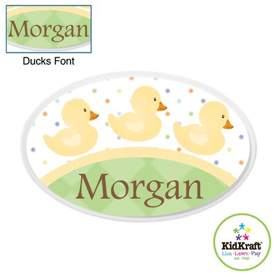 KidKraft Personalized Duck Oval Wall Plaque