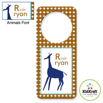 Personalized Boy Animal Door Hanger