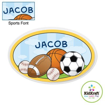 Personalized Sports Oval Wall Plaque