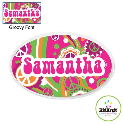 KidKraft Personalized Groovy Oval Wall Plaque