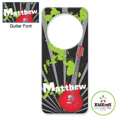 KidKraft Personalized Guitar Door Hanger