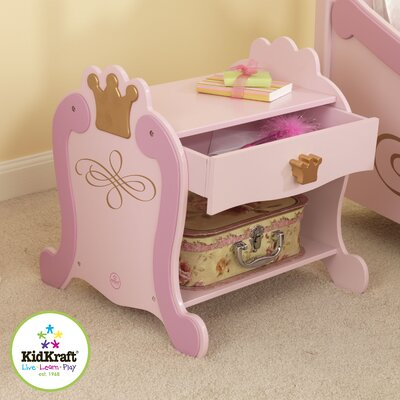 KidKraft Princess 1 Drawer Nightstand