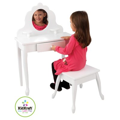 KidKraft Medium Diva Vanity Set with Mirror
