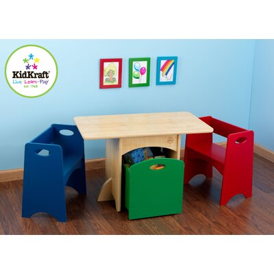 KidKraft Kids' 4 Piece Table and Chair Set