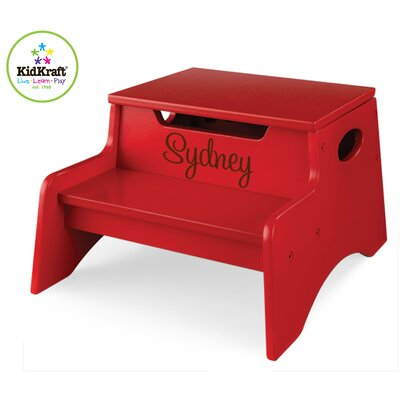 KidKraft Personalized Step N' Store Stool in Red