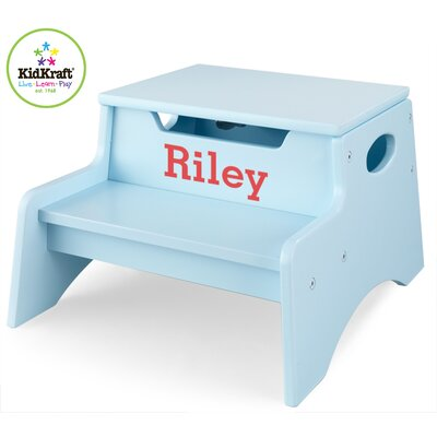 Personalized Step N' Store Stool in Sky Blue