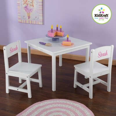 Kidkraft Personalized Aspen Kids 3 Piece Table And Chair