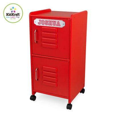 KidKraft Personalized Medium Locker in Red