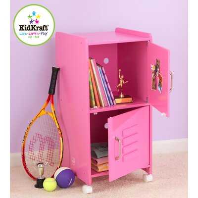 KidKraft Personalized Medium Locker in Bubblegum