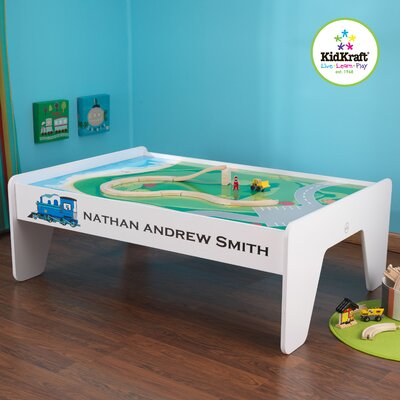 Personalized Train Table in White