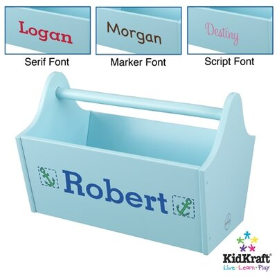 Personalized Toy Box Caddy in Ice Blue