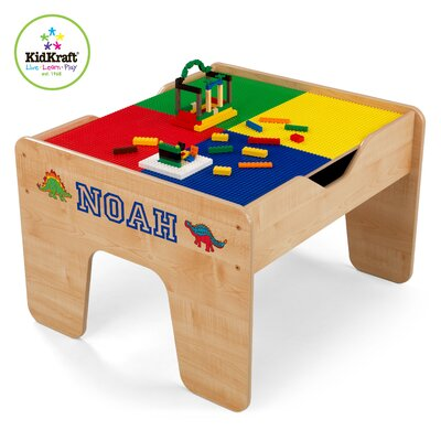 KidKraft Personalized 2-in-1 Lego and Train Activity Table