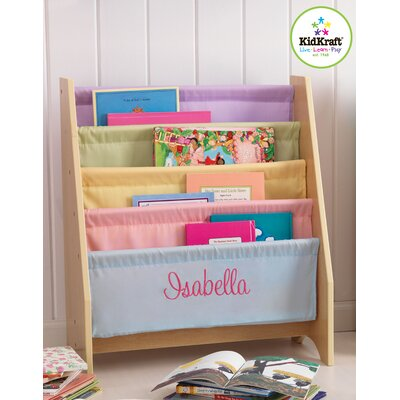 KidKraft Personalized Pastel Sling Bookshelf