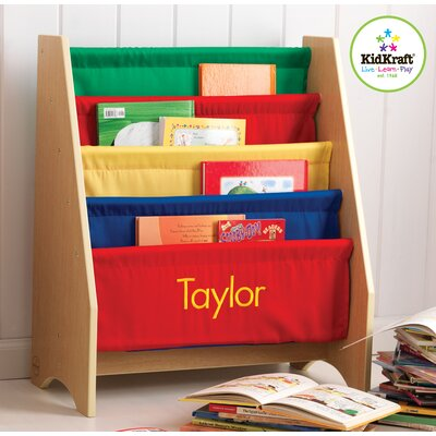 KidKraft Personalized Primary Sling Bookshelf