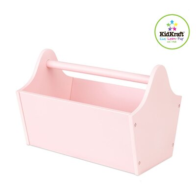 KidKraft Personalized Toy Box Caddy in Petal Pink