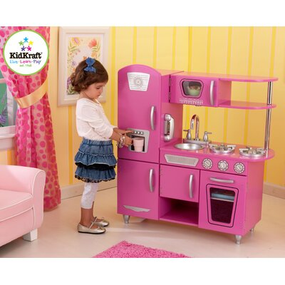 KidKraft Personalized Bubblegum Vintage Kitchen