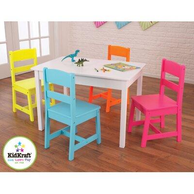 KidKraft Highlighter Kids' 5 Piece Table & Chair Set
