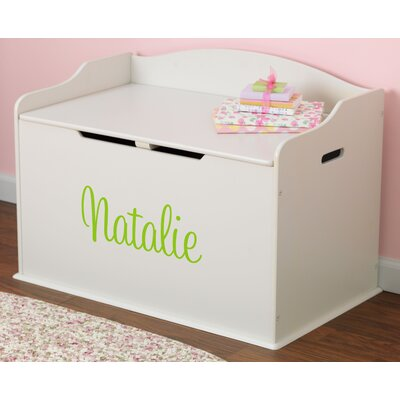 Personalized Austin Toy Box in Vanilla