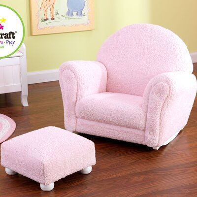 KidKraft Chenille Rocker and Ottoman