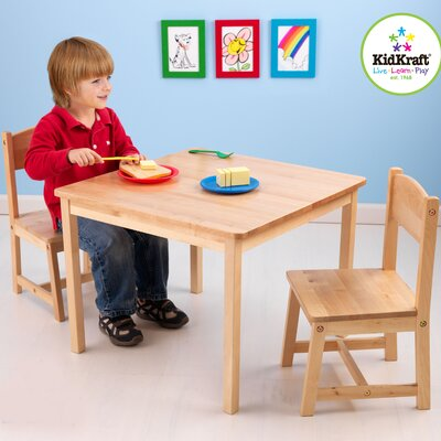KidKraft Aspen Kids' 3 Piece Table and Chair Set