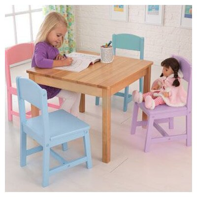 KidKraft Seaside Kids' 5 Piece Table and Chair Set