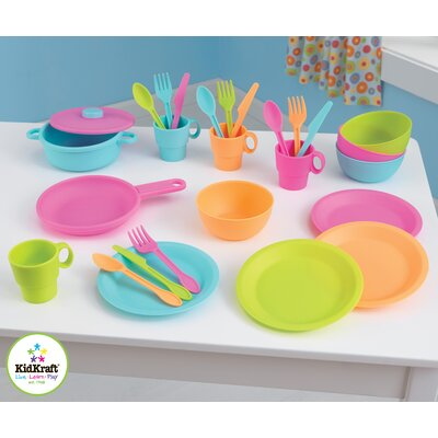 KidKraft 27 Piece Bright Kids Cookware Set