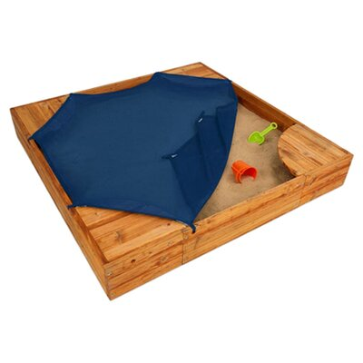 <strong>KidKraft</strong> Backyard 5' Square Sandbox with Cover