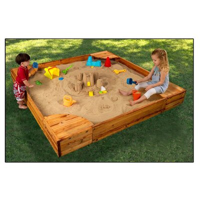 KidKraft Backyard 5' Square Sandbox with Cover & Reviews ...