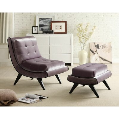 Armen Living 5Th Avenue Chair and Ottoman