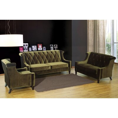 Armen Living Barrister Velvet Loveseat