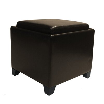 Contemporary Storage Ottoman with Tray
