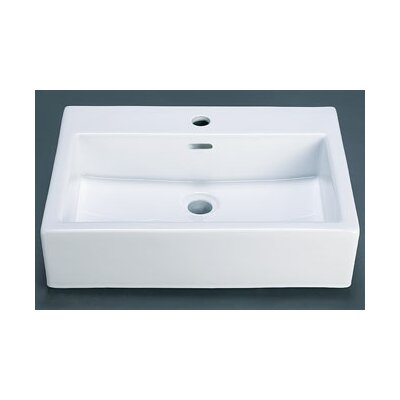 Rectangle Ceramic Vessel Bathroom Sink with Overflow - 200212