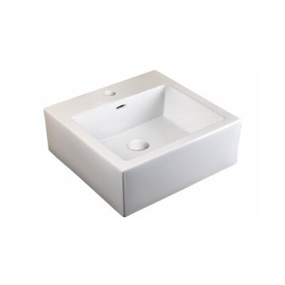 Ronbow Ceramic Bathroom Sink with Integrated