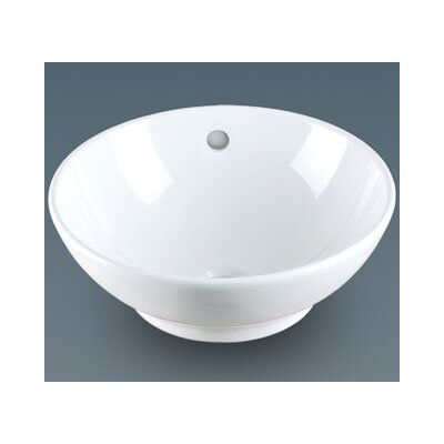 Ronbow Round Ceramic Vessel Bathroom Sink with Overflow