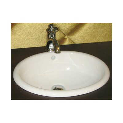 Oval Semi Recessed Ceramic Vessel Bathroom Sink with Overflow - 200392-WH
