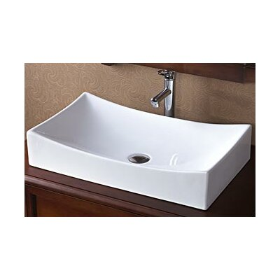 Small Rectangular Vessel Sink : Ronbow Rectangle Ceramic Vessel Bathroom Sink in White & Reviews ...