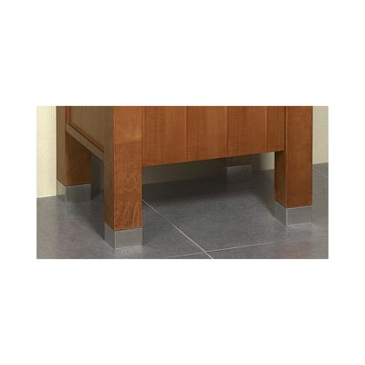 "Ronbow Contempo Minerva 1"" W x 1.75"" D Brushed Nickel Metal Feet"
