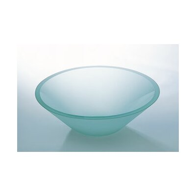 "Ronbow 5.5"" x 16.5"" Artistic Glass Vessel Sink with Tempered Glass"