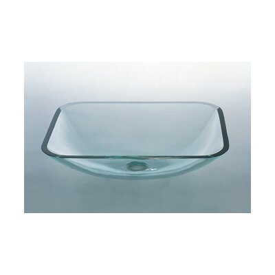 Ronbow Rectangular Vessel Bathroom Sink with Tempered Glass & Reviews ...