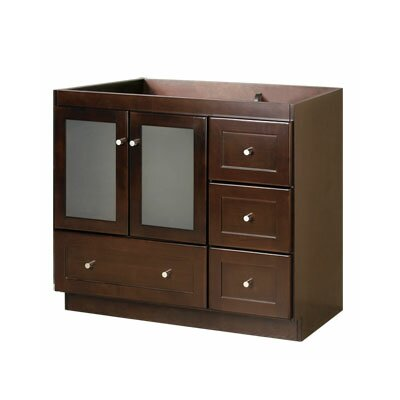 "Ronbow Modular Shaker 36"" Bathroom Vanity Cabinet with Glass Door"