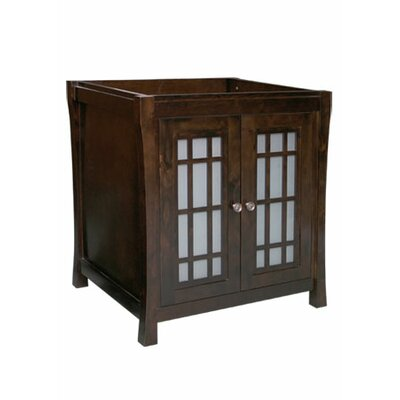 Ronbow Shoji - 30inches Wood cabinet w/double frost glass doors