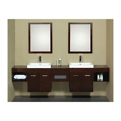"Ronbow 94.1"" Shelf Bridge Wall Mount Bathroom Vanity"