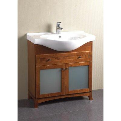 Original  Euro 21in Single Bathroom Vanity  Cherry  Single Sink Vanities At