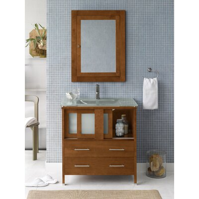 """Ronbow Contempo 32"""" W Minerva Bathroom Cinnamon Vanity Base"""