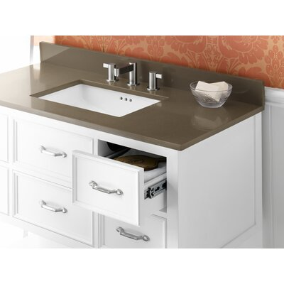 "Ronbow Neo-Classic 42"" White Newcastle Vanity and Quartz Top Set"