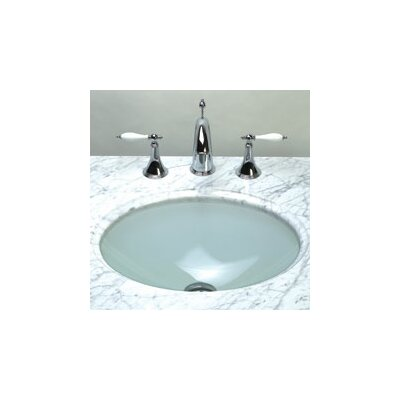 Ronbow Undermount Oval Glass Vessel Bathroom Sink